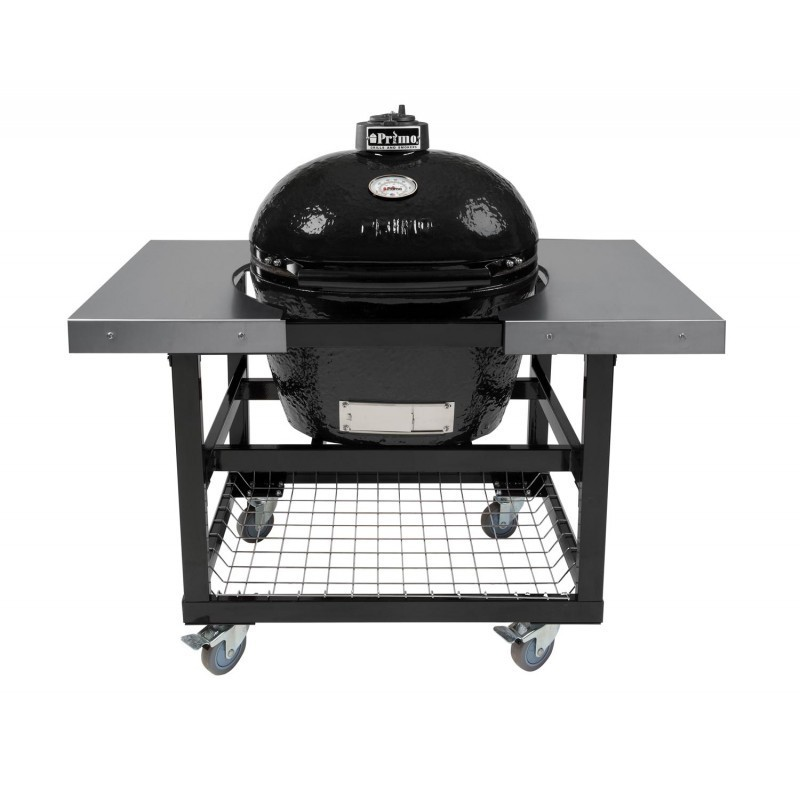 Primo Ceramic Oval XL Charcoal Smoker Grill:-